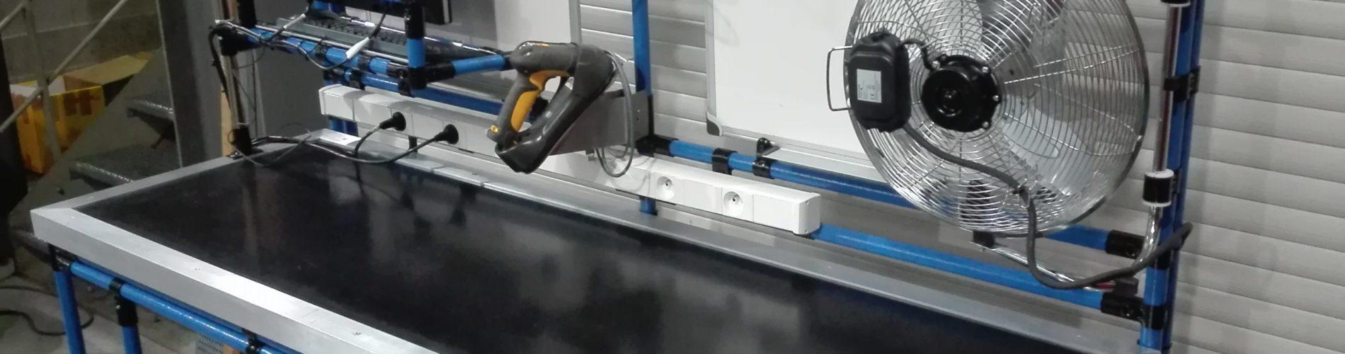 espace de travail tube modulaire